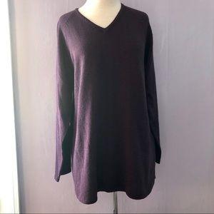 Carolyn Taylor Deep Purple Tunic Sweater Plus